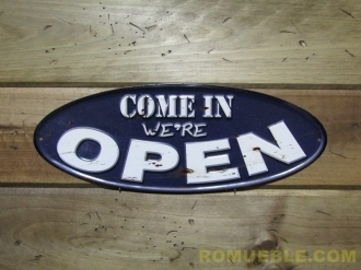 Cartel OPEN  Metal Retro Vintage 40x15