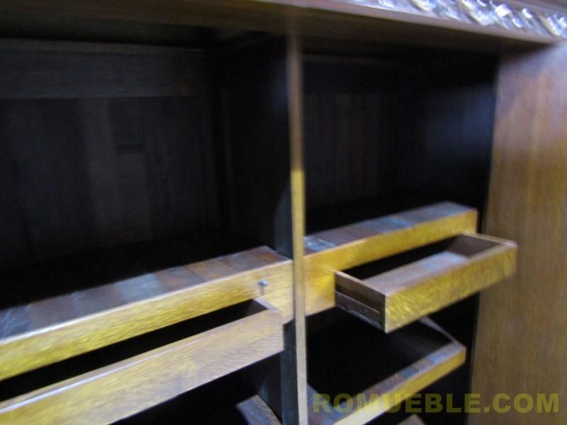 BUFFET ANTIGUO ROBLE Y CAOBA E-3/33 - PORTE GRATIS A LA PENINSULA