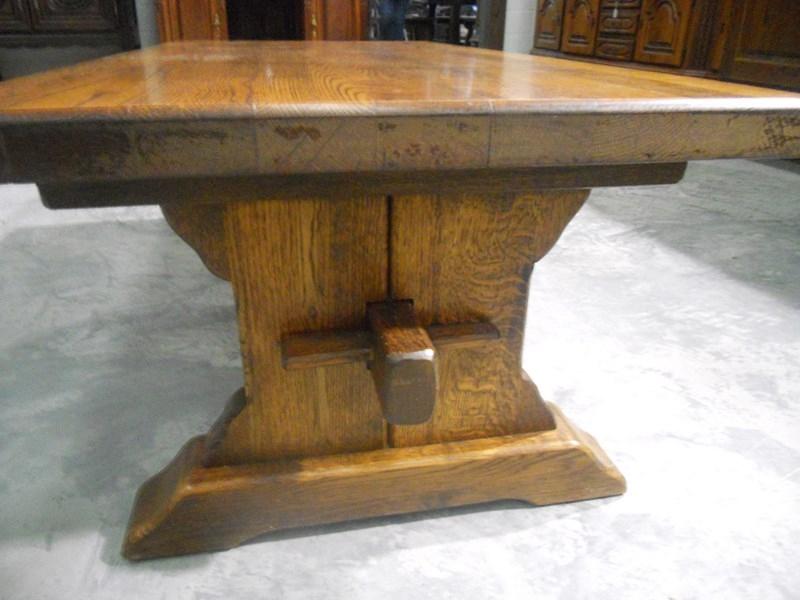 Mesa centro de roble jf 2 3 1 for Mesas antiguas rusticas