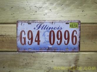 Matrícula Metal Retro Vintage 15,5x30,5