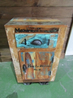 MUEBLE RUSTICO AUXILIAR-MESITA  G Y C - 6290