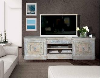 MUEBLE TV EN MADERA MACIZA GYC-R6412 / PORTE GRATIS A PENINSULA