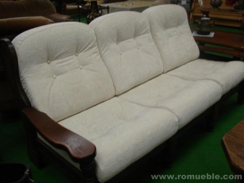 Sofa 2 plazas roble tela tapiceria nueva - Tela tapiceria sofa ...