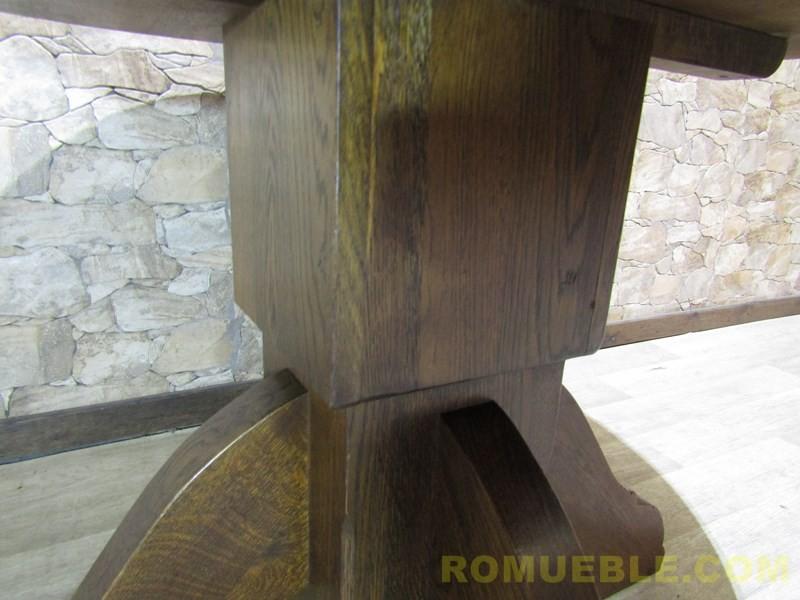 MESA REDONDA ROBLE MACIZO H-7/27