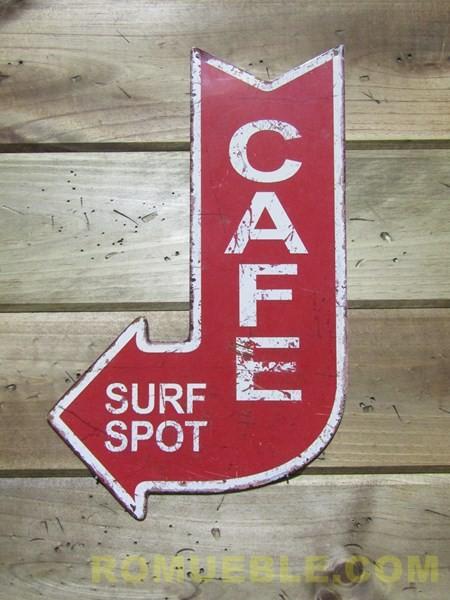 Cartel Flecha CAFE  Metal Retro Vintage 40x25