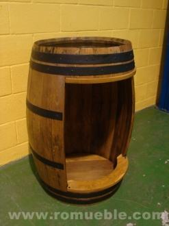 Barril Barrica Mesa en madera de roble FR-7/11 / PORTE GRATIS