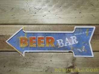 Cartel Flecha Metal Retro Vintage 45x16